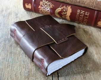 Leather Journal . A GEEK'S DREAM - Periodic Table of Elements . handbound handmade . dark plum (320 pgs)