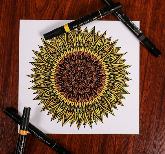 Zentangle - Sunshine Flower