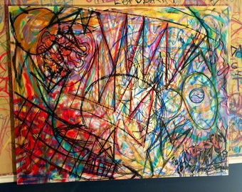 Untitled Abstract Painting 60x40in.