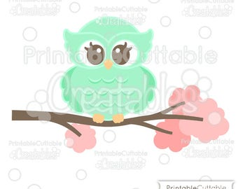 Sweet Woodland Owl SVG Cut File & Clipart E268 - Includes Limited Commercial Use!