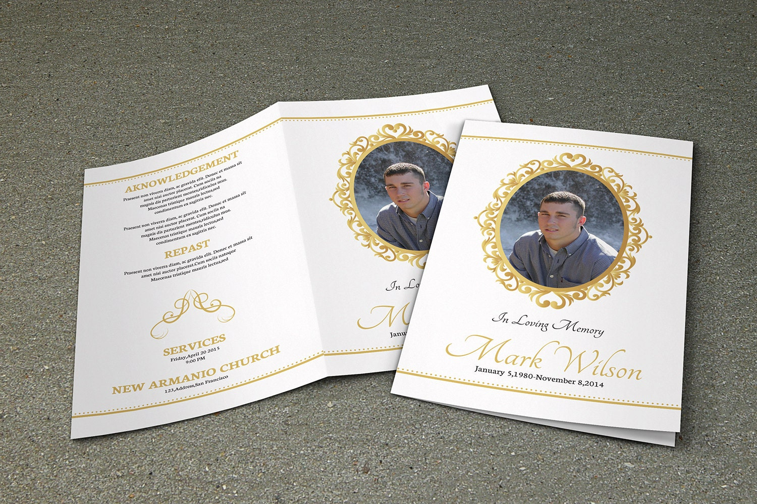 Funeral Service Templates Word Dove Funeral Card Funeral Pamphlets ...
