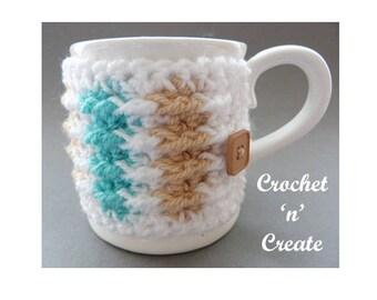 Mug Jacket Crochet Pattern (DOWNLOAD) CNC80