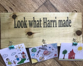 Childrens Artwork Hook / Hanger / Display - Personalised Handcrafted, Bespoke & Unique