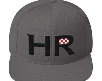 CroKicks HR WOOLY 1.0 - Wool Snapback Croatian Hat