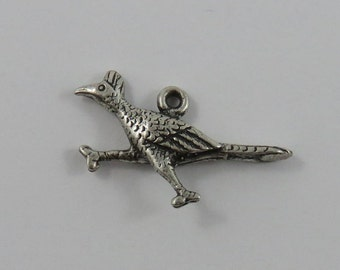 Road Runner Sterling Silver Vintage Charm For Bracelet