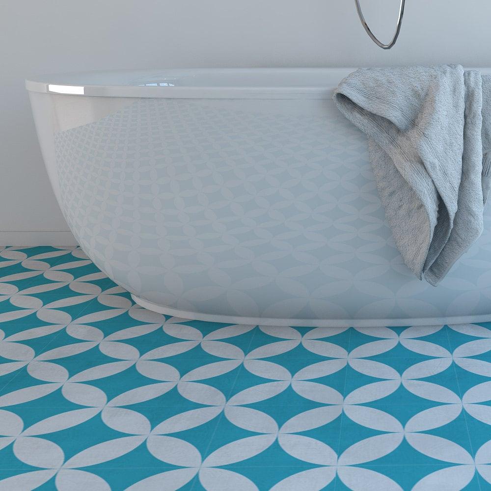 Vinyl floor flooring moroccan floor tiles floor vinyl zoom dailygadgetfo Choice Image