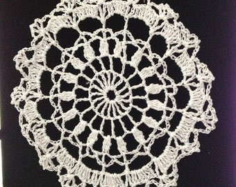 Handmade dollies crocheted white