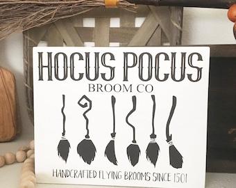 Hocus Pocus Witch Broom Sign - Witch Broom Sign- Hocus Pocus Sign - Halloween Sign - Witch Broomstick Sign
