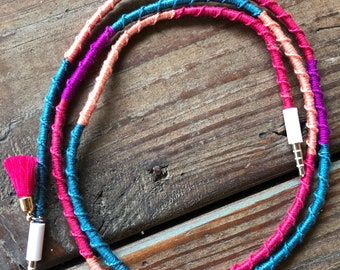 Boho Bliss iphone charger/Aux cord
