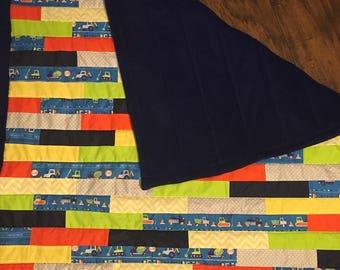 Construction toddler quilt