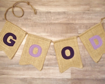 Burlap Banner, Mix and Match Colors, Birthday Party or Wedding Decor