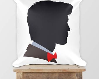 Doctor Who Square Pillow • Christmas Present • Holiday Gift • Dr Who Pillow • Geronimo • Matt Smith • Eleventh Doctor • 11th Doctor • 18x18