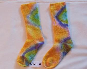 Children socks, dyed socks, bamboo socks, socks, OOAK