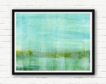 ABSTRACT painting, giclee, abstract giclee, fine art print, modern painting, giclee art print, pastell painting, landscape, green, blue