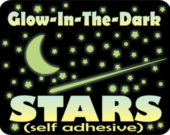 Glow in the Dark Stars, Ceiling Stars, Star Scene, Realistic Stars, Stars for Ceiling, Glowing Stars, kids bedroom decor, Bedroom Wall Art