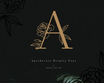 Apothecary Display Font Kit - Gold Letters & Font