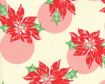 Swell (31121 11) Cream Poinsettia Polka Dot by Urban Chiks