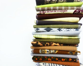 20 Natural Cloth Napkins - Mixed Neutral Color Everyday Napkins - Casual Napkins - Reusable Paper Towels - Flannel - 10 x 12 cb