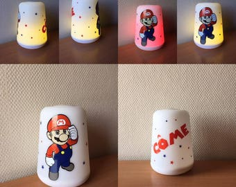 led multicolors mario bros disney or other /Multicolor led lamp with customization in disney vinyl or other