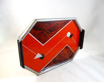 Rare german bauhaus suprematism cocktail tray art deco 1925 red colors