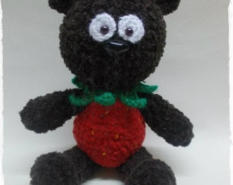 Strawberry Teddy Bear Amigurumi Crochet ToyCrochet teddy Bear Strawberry toy plush Teddy Bear Gift for kids Will be made JUST FOR YOU