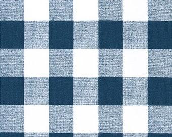 Premier Prints Fabric-ANDERSON-Buffalo Plaid-ITALIAN DENIM-Or Color Choice-Premier Print- Fabric by The Yard Yardage