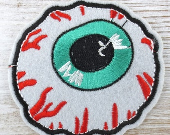 Eyeball Embroidered Iron On Patch