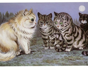 1983 print cats tomming by louis wain