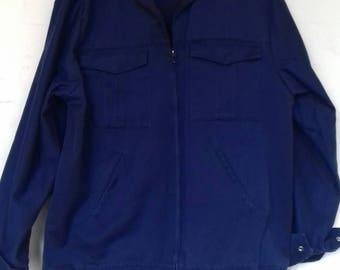 Men's navy vintage work wear jacket - M/L