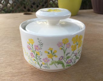 Noritake 1970's Sugar Bowl Flower Power