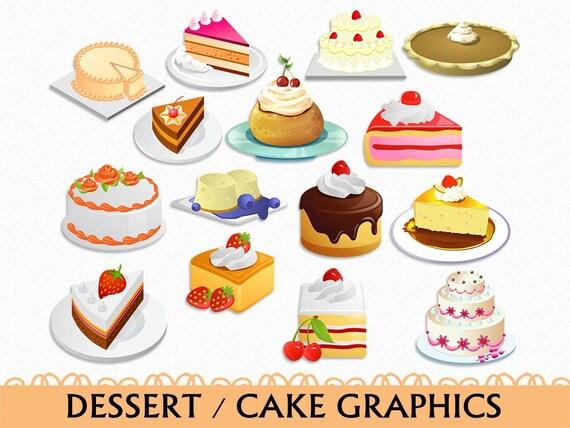 cake clip art graphic food sweets dessert clipart scrapbook rh etsy com dessert clip art free desert clip art animals for diorama