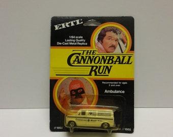 the cannonball run burt reynolds Dom deliuise ertl diecast ambulance moc 1981