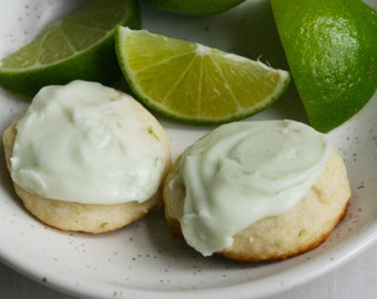 Frosted Lime Wafers (ONE DOZEN)