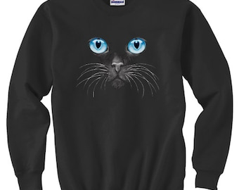 Crewneck Sweatshirt / Blue Eyed Cat