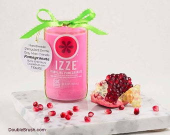 Mother Gift for Mother's Day Gift for Mom Mothers Day Gift from Daughter Mom Gift from Son Scented Soy Candle Izze Soda Bottle Pomegranate