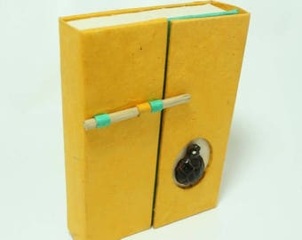 Set of 3 - Handmade Paper Travel Journal