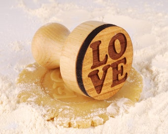 Cookie Cutters Plunger Engraved Plunger for Embossed Wooden Personalized Gifts Cookies Stamp for wedding Custom Gift Stamp for Dough Kitchen
