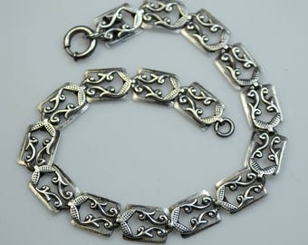 "Danecraft Sterling Silver Bracelet, 7-1/2"" Long"