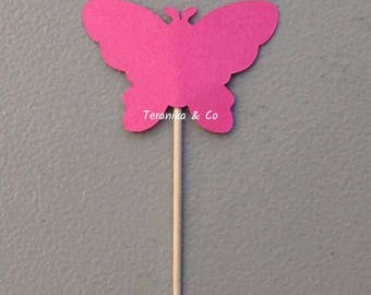 24 count Butterfly cupcake toppers, Cupcake toppers, Toppers