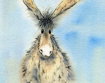 Limited edition print - Nigel the donkey, donkey print, donkey picture