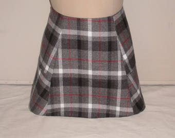 Plaid Flannel A-Line Mini Skirt Available in Various Prints and Colors -  Paneled Mini Skirt in Flannel Plaid Fabric with Cotton/Poly Lining
