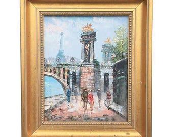 Eiffel Tower Paris France Oil Painting