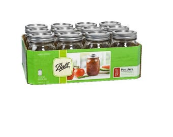 Ball Mason Jars, One Pint | 12 per case