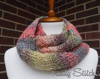 Knit Tube Cowl Double Wrap Vegan Bulky Ready To Ship Free Shipping