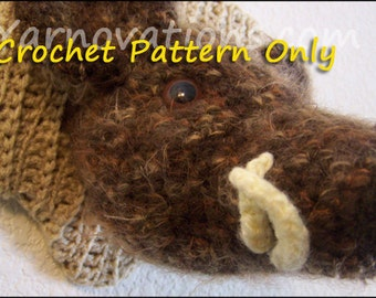 Boar, Mounted Wild Boar's Head Crochet Pattern