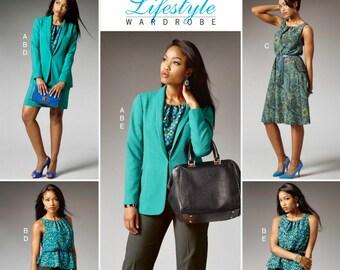 Sewing Pattern Pants Pattern, Pullover Dress Pattern, Straight Skirt Pattern, Lined Jacket Pattern, Butterick Sewing Pattern 5965