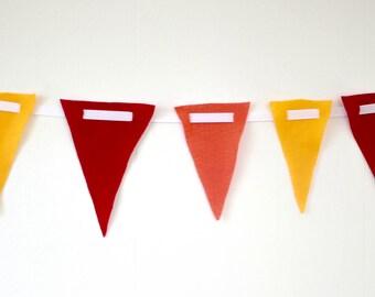 5ft Custom Flag Banner -Choose your colors