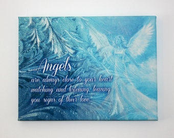 """Angels are always close -  9""""x12"""" Canvas Print"""