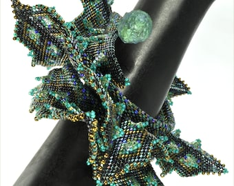 "The ""Loch Ness - Sea Dragon III"" Wrap Beading Kit (inspired www.ContemporaryGeometricBeadwork.com)"