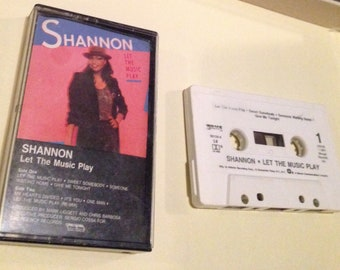 SHANNON - Let The Music Play audio cassette tape